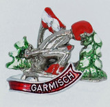 HP8322 Skier Hat Pin GARMISCH