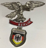 HP8337 Eagle wings with Germany shield Hat Pin BERLIN