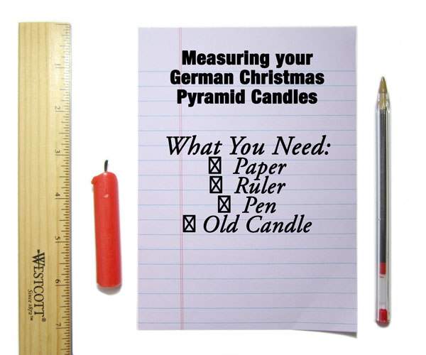 How to Measure German Christmas Candles