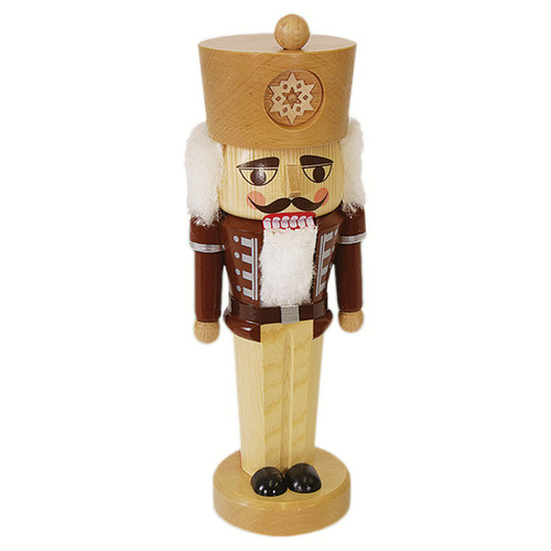 Snowflake German Nutcracker Natural Wood Colors