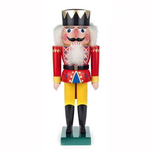 Traditional Red King German Nutcracker