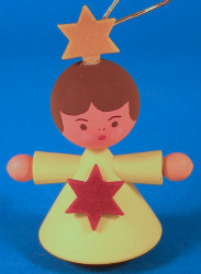 Angel Child Ornament Yellow