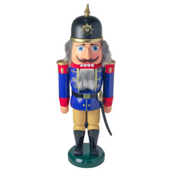 Blue Soldier Sun Helmet German Nutcracker NCD003X103B