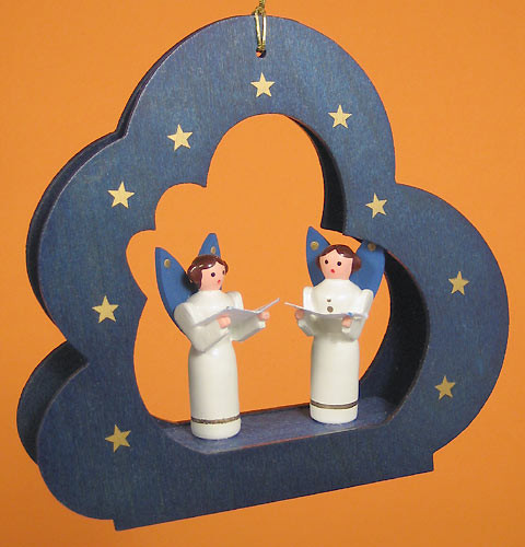 Cloud Singing Angels Ornament