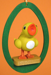 Colorful Egg Chick Ornament