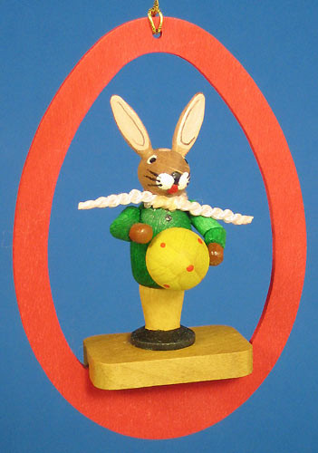 Colorful Egg Rabbit Ball Ornament