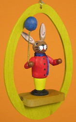 Colorful Egg Rabbit Balloon Ornament