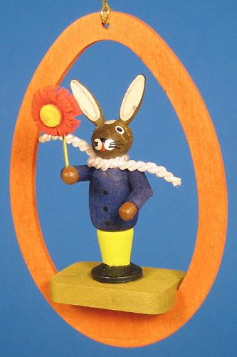 Colorful Egg Rabbit Flower Ornament