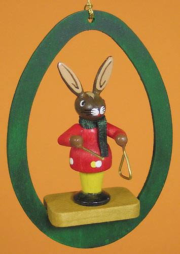 Colorful Egg Rabbit Triangle Ornament