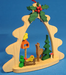 Deer Birdfeeder Tree Frame Ornament