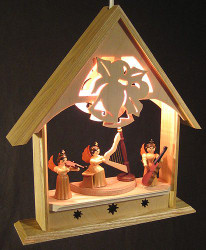 Electric Musical Angels Wooden Scene