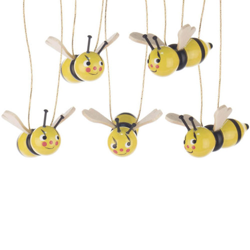 Five Bees Ornaments German