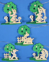 Five Flower Children Spring Tree Ornament