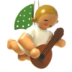 Wendt Kuhn Flying Angel Playing Mandolin German Ornament ORW650X130MAND
