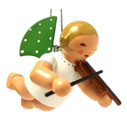 Wendt Kuhn Flying Angel Playing Violin German Ornament ORW650X130VIOL