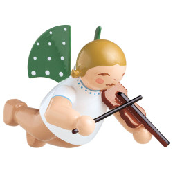 WENDT & KÜHN Flying Angel Playing Violin German Ornament