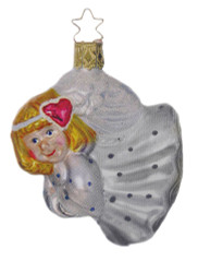 Flying Angel White Ornament