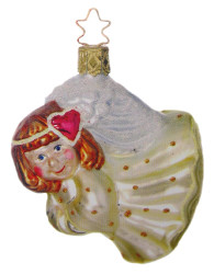 Flying Angel Yellow Ornament