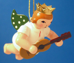 Guitar Angel Christmas Ornament