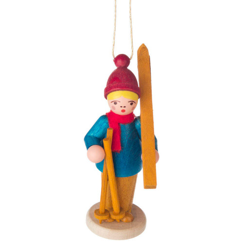 Holiday Sports Children Ornament Carrying Skis