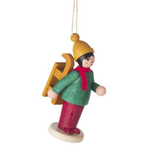 Holiday Sports Children Ornament Carrying Sled