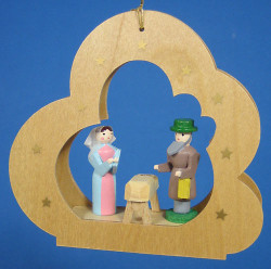 Holy Family Cloud Ornament