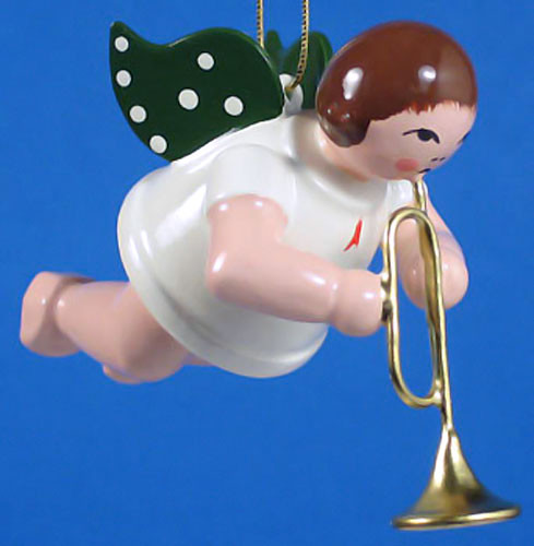 Horn Angel Christmas Ornament