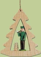 Woodsman Forest Hunter Tree Frame Ornament