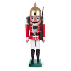 Infantry Red Gold Helmet German Nutcracker