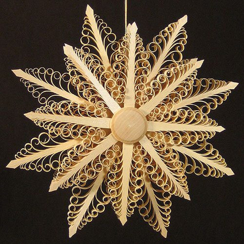 Intricate Star Wooden Scene