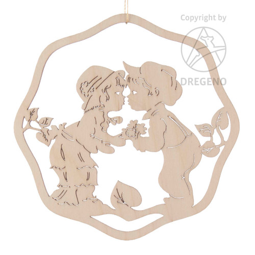 Kissing Flower Children Ornament
