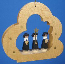 Kurrende Carolers Cloud Ornament