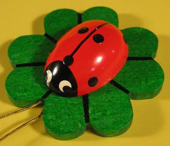 Ladybug Leaf Ornament