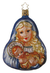 Mary Baby Jesus Ornament Wood Box