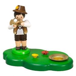 Boy Horn Player Candleholder