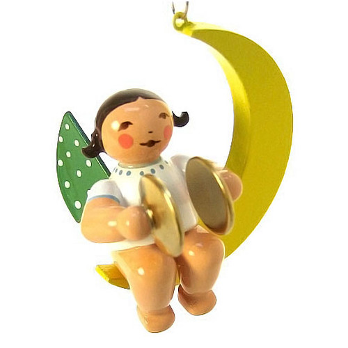 Wendt Kuhn Mini Angel Ornament Cymbals Crescent Moon ORW650X80X11