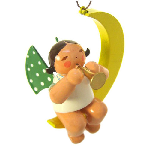Wendt Kuhn Mini Angel Ornament Trumpet Crescent Moon ORW650X80X3