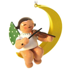 Wendt Kuhn Mini Angel Ornaments Violin Crescent Moon ORW650X80X2