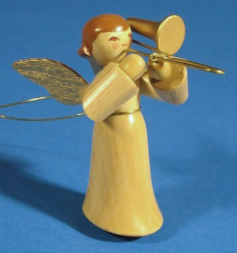 Ornament Angel Playing Trombone