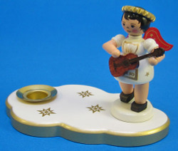 Candleholder Angel Red Wings Guitar Christmas