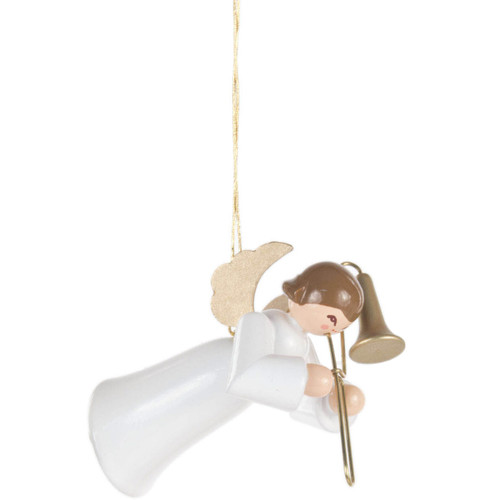 Ornament Angel White Gown Trombone