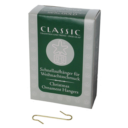Inge-Glas Ornament Hanger Hooks Gold Made in China ORG90001