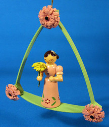Pink Flower Child Arch Ornament