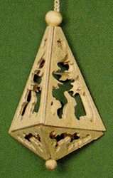 Rabbits Trees Triangle Ornament