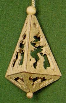 Rabbits Trees Triangle Ornament