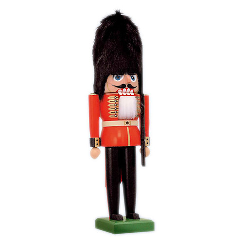 Red Guard Fur Helmet German Nutcracker