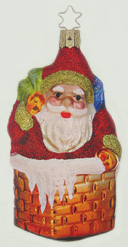 Santa Chimney Ornament