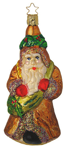 Santa Gold Ornament