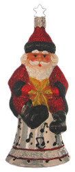 Santa Musical Bell Ornament