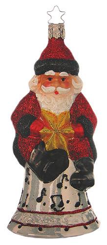 Santa Musical Bell Ornament